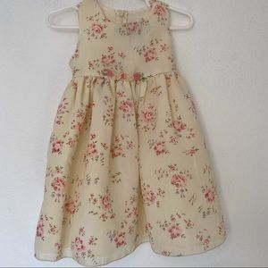 Yellow Floral Spring Dress 18 months